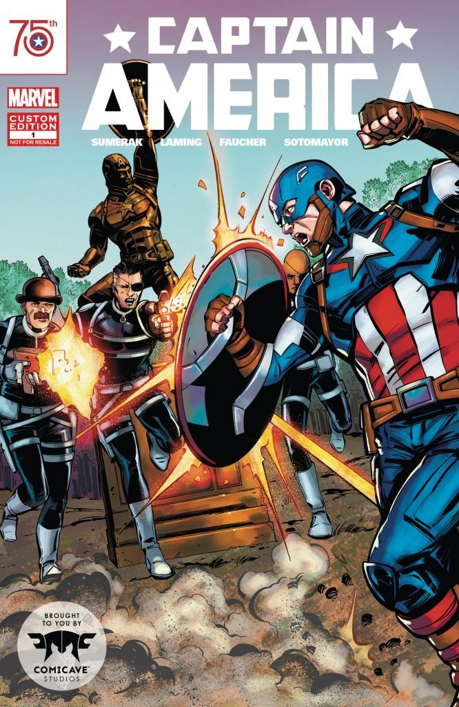 Catain America Comicave Custom Comic Cover